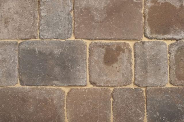 Block paving slabs - Rumbled Autumn Gold
